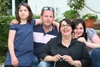 smiling host family